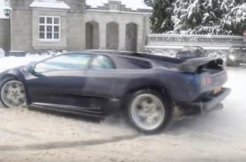diablo na śniegu